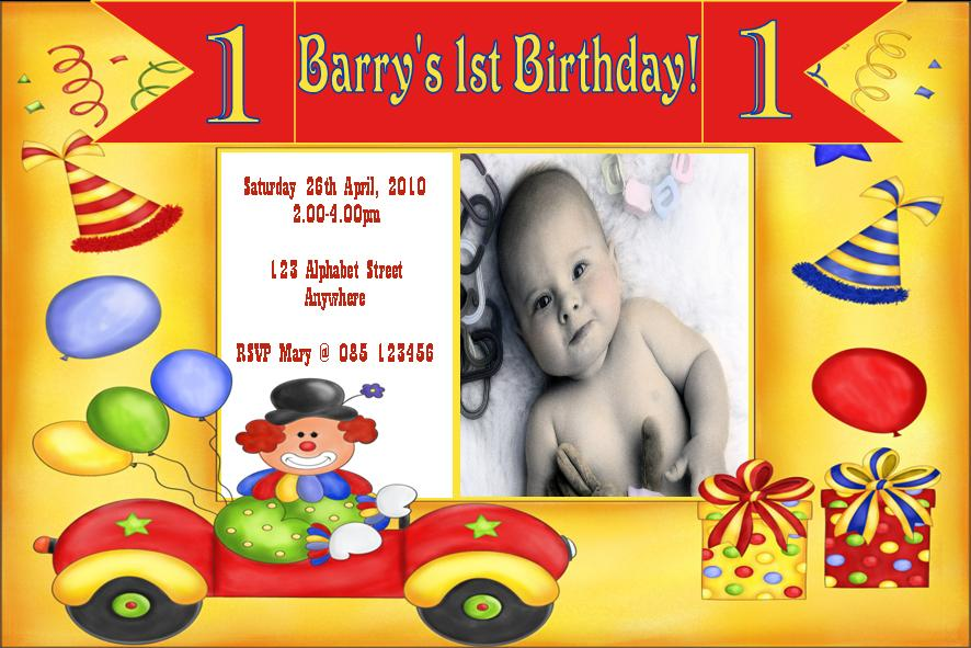 Photo One Website – Birthday Card Invitation Design